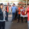 Trabalhadores da Alimentação fazem ato contra morte de funcionário em frigorífico da JBS