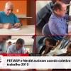 Assinatura do acordo coletivo da Nestlé 2015