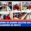 Assinatura do acordo coletivo dos trabalhadores da Nestlé