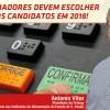 Trabalhadores devem escolher bem os candidatos em 2018