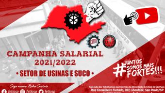 Campanha Salarial 2021/2022 – Setor de Usinas e Suco