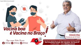 VACINA BOA É VACINA NO BRAÇO